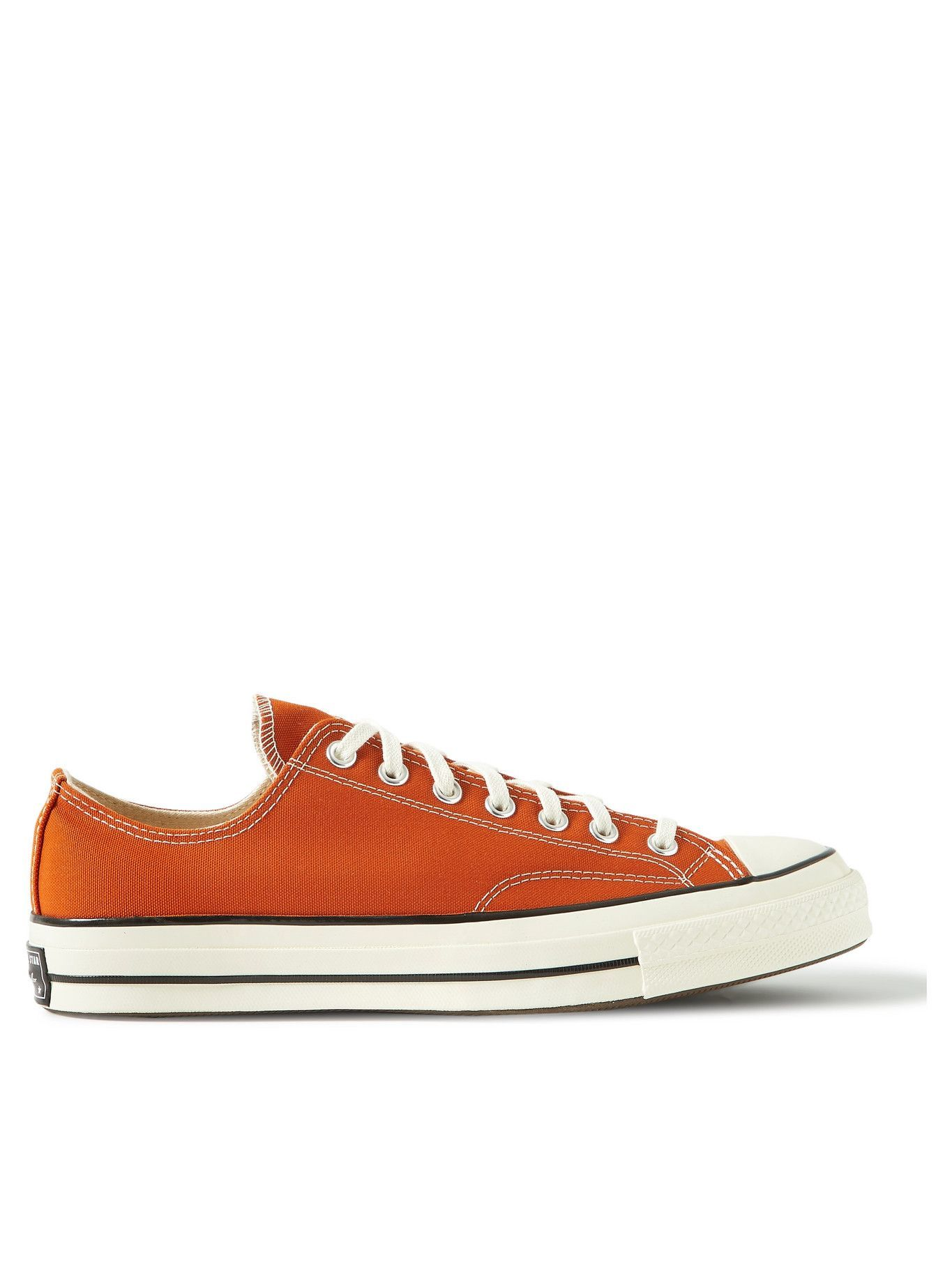 Photo: Converse - Chuck 70 OX Recycled Canvas Sneakers - Orange