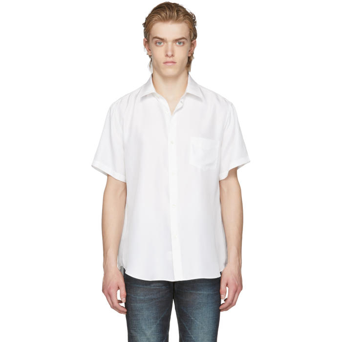 Photo: Cobra S.C. White Short Sleeve Silk Model One Shirt