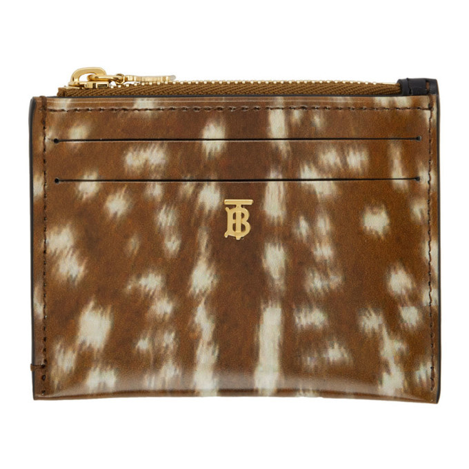 Photo: Burberry Brown Deer Print Simone Card Holder