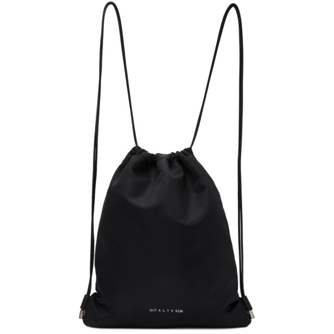Photo: 1017 ALYX 9SM Black Re-Nylon Drawstring Gym Backpack