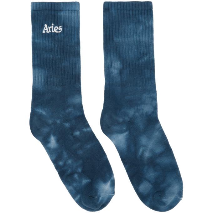 Photo: Aries Blue Tie-Dye Socks