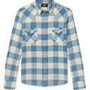 RRL - Buffalo-Checked Cotton and Linen-Blend Flannel Shirt - Blue