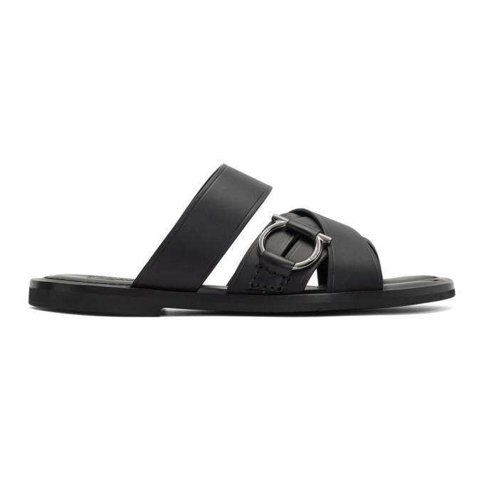 Photo: Salvatore Ferragamo Black Atina Sandals