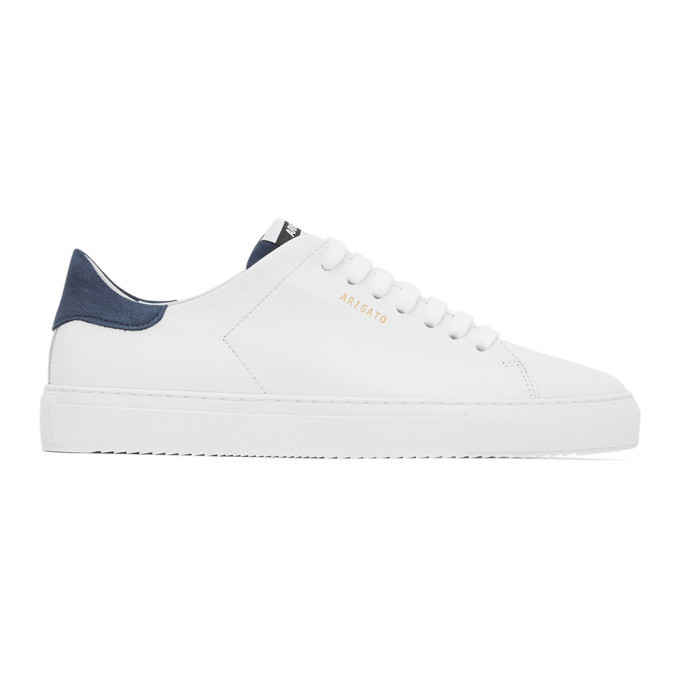 Photo: Axel Arigato White and Blue Clean 90 Sneakers