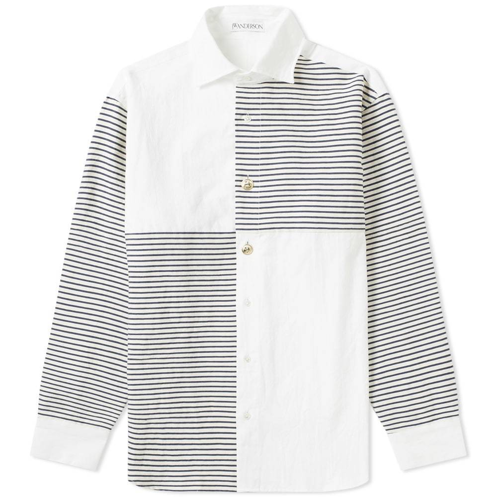 Photo: JW Anderson Patchwork Nautical Shirt White
