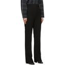 3.1 Phillip Lim Black Topstitch Cady Trousers