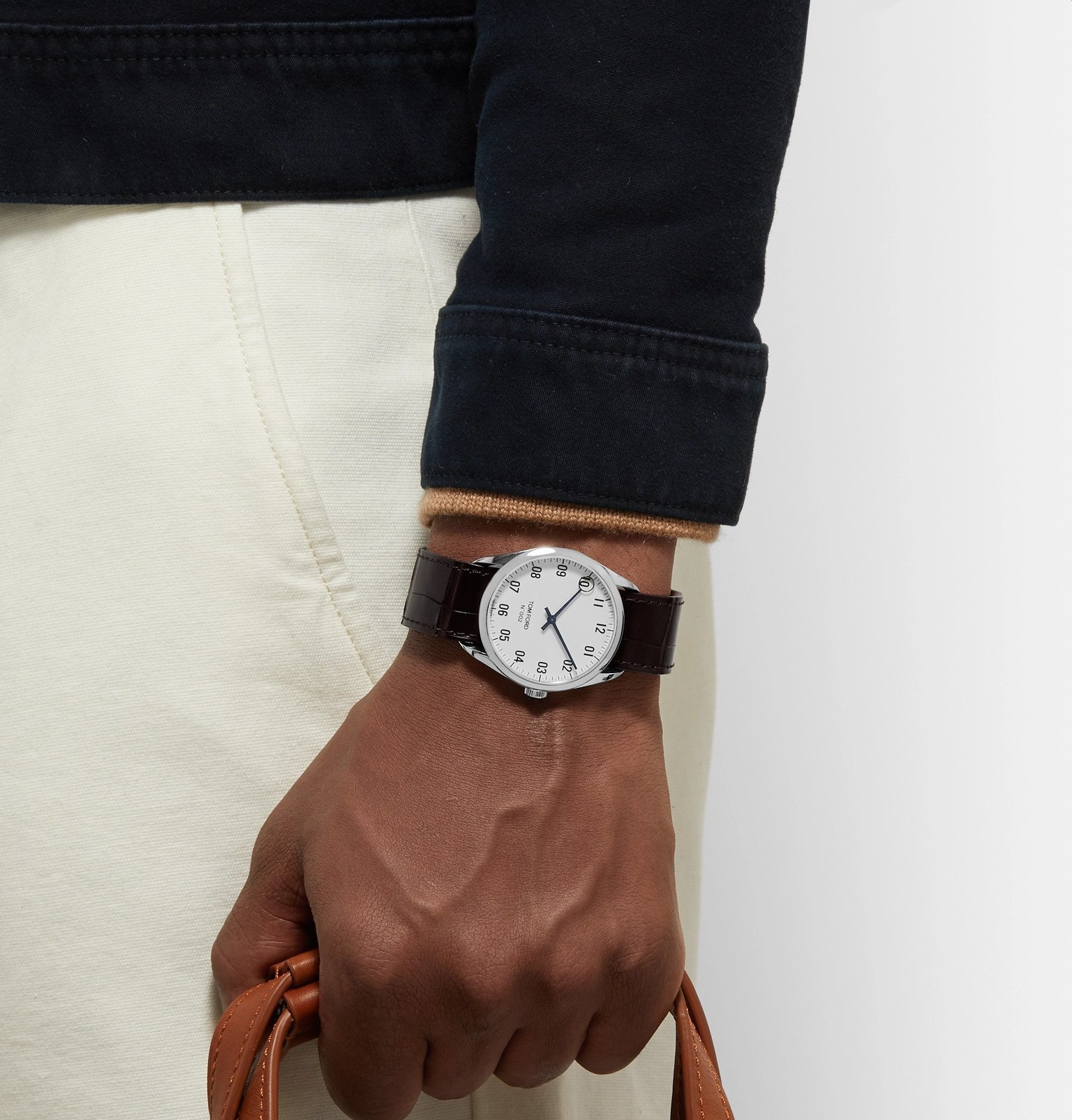 Tom Ford Timepieces - 002 38mm Stainless Steel and Alligator Watch - White
