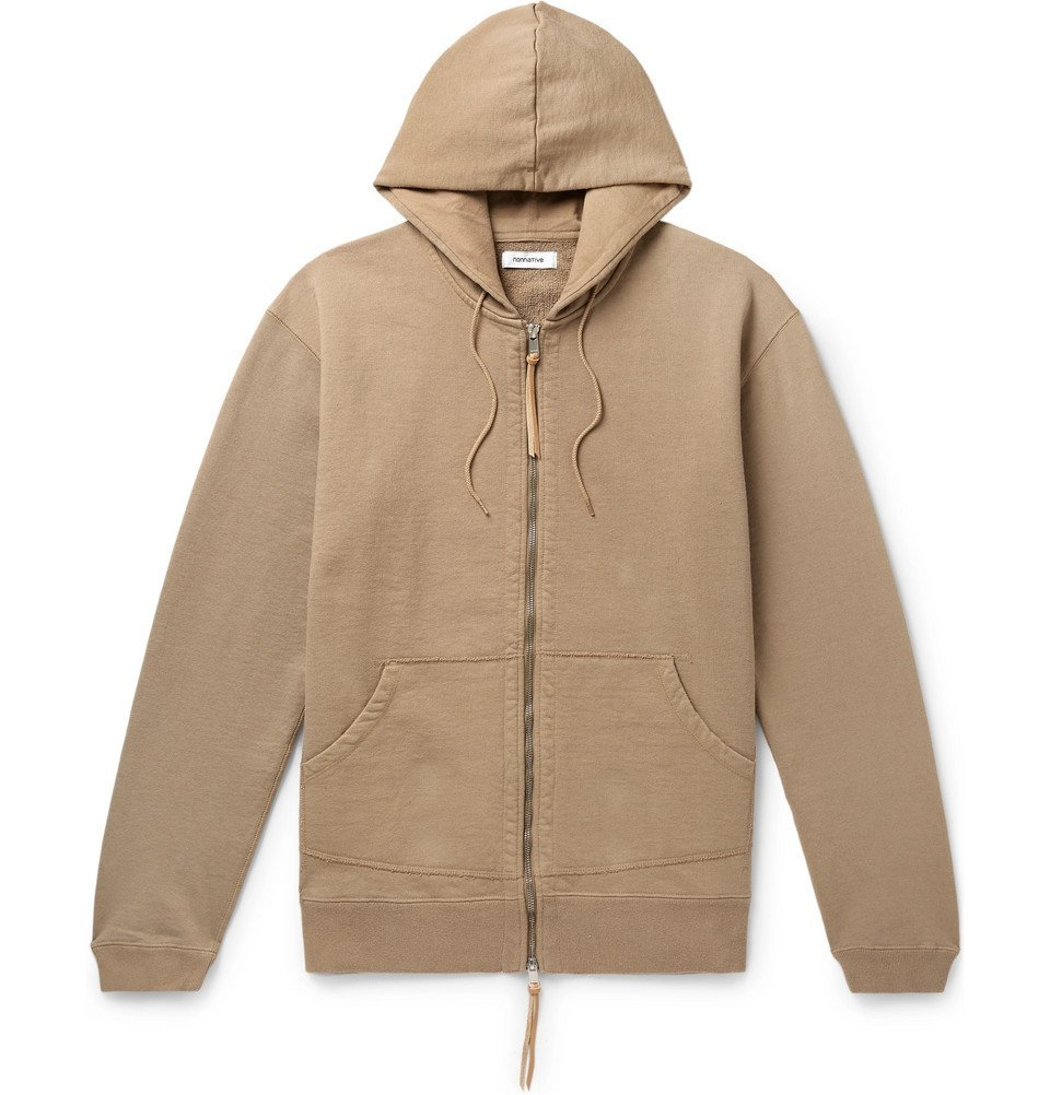 Photo: nonnative - Dweller Loopback Cotton-Jersey Zip-Up Hoodie - Beige