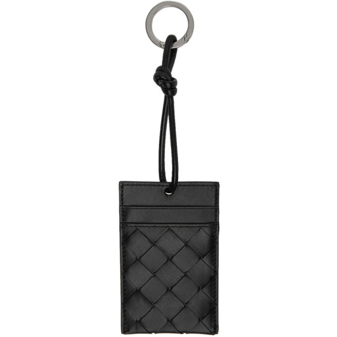 Photo: Bottega Veneta Black Intrecciato Multi Card Holder