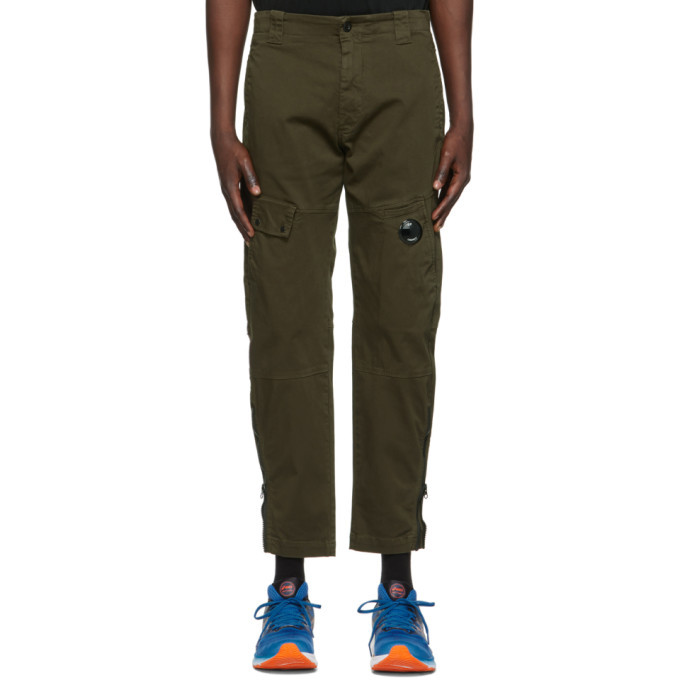 C.P. Company Khaki Stretch Sateen Trousers