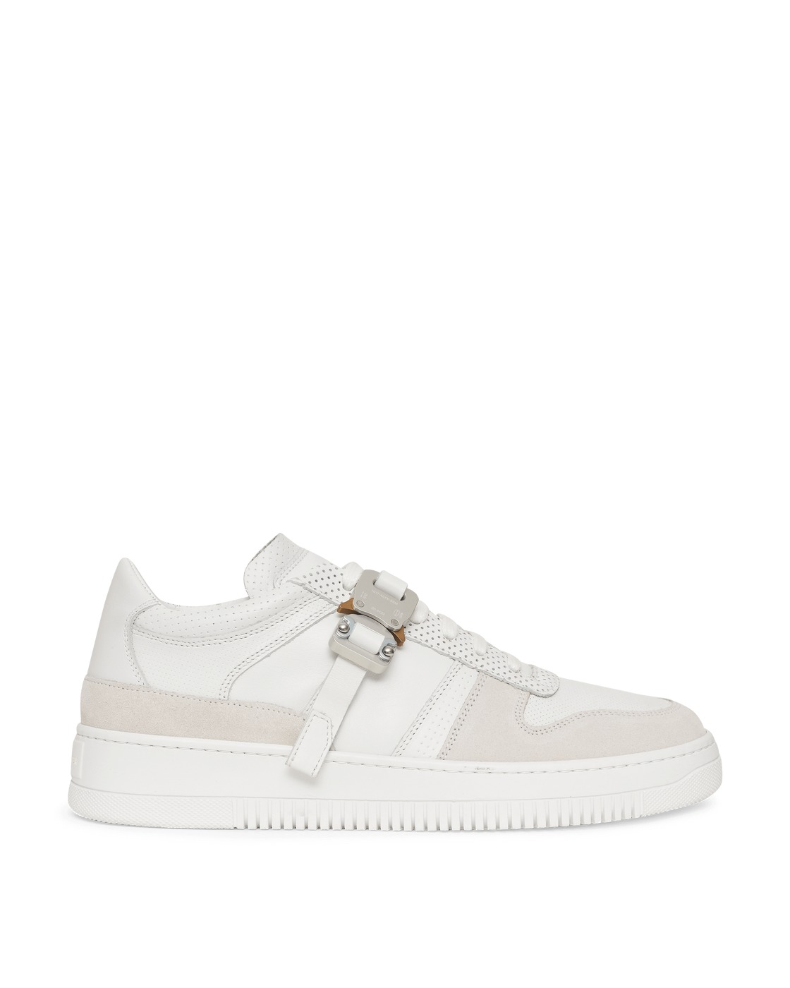 Photo: 1017 Alyx 9sm Leather Buckle Sneakers White