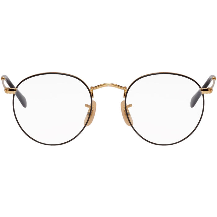 Photo: Ray-Ban Gold and Black Round Metal Icons Glasses