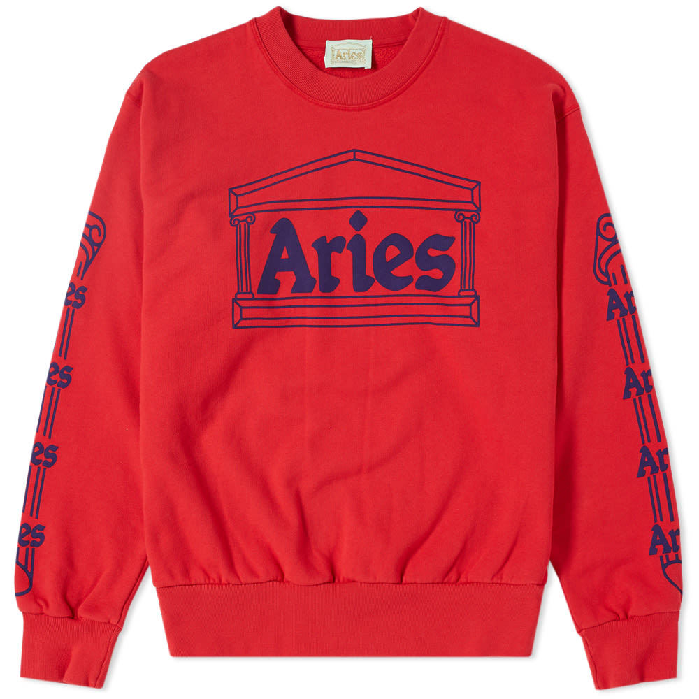 Aries Temple Crew Sweat Red