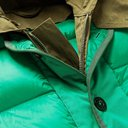 Sacai - Quilted Shell and Coated Cotton-Twill Hooded Down Jacket - Green