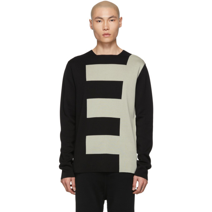Photo: Rick Owens Black and Grey Biker Level Sweater