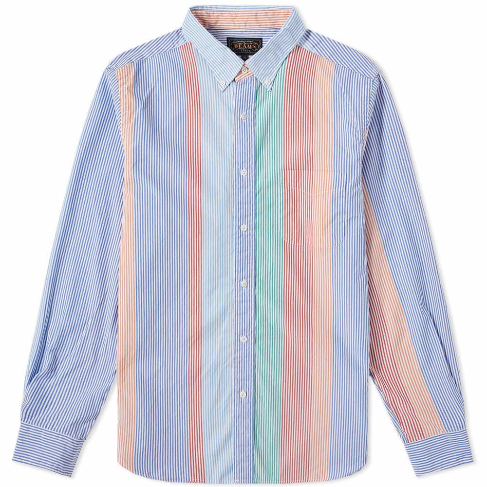 Photo: Beams Plus Button Down Wide Pitch Stripe Shirt