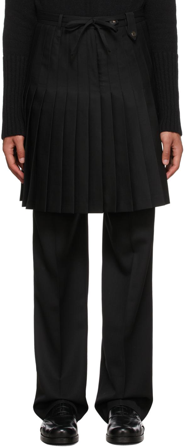 Photo: EGONlab Black Wool Euphoria Skirt