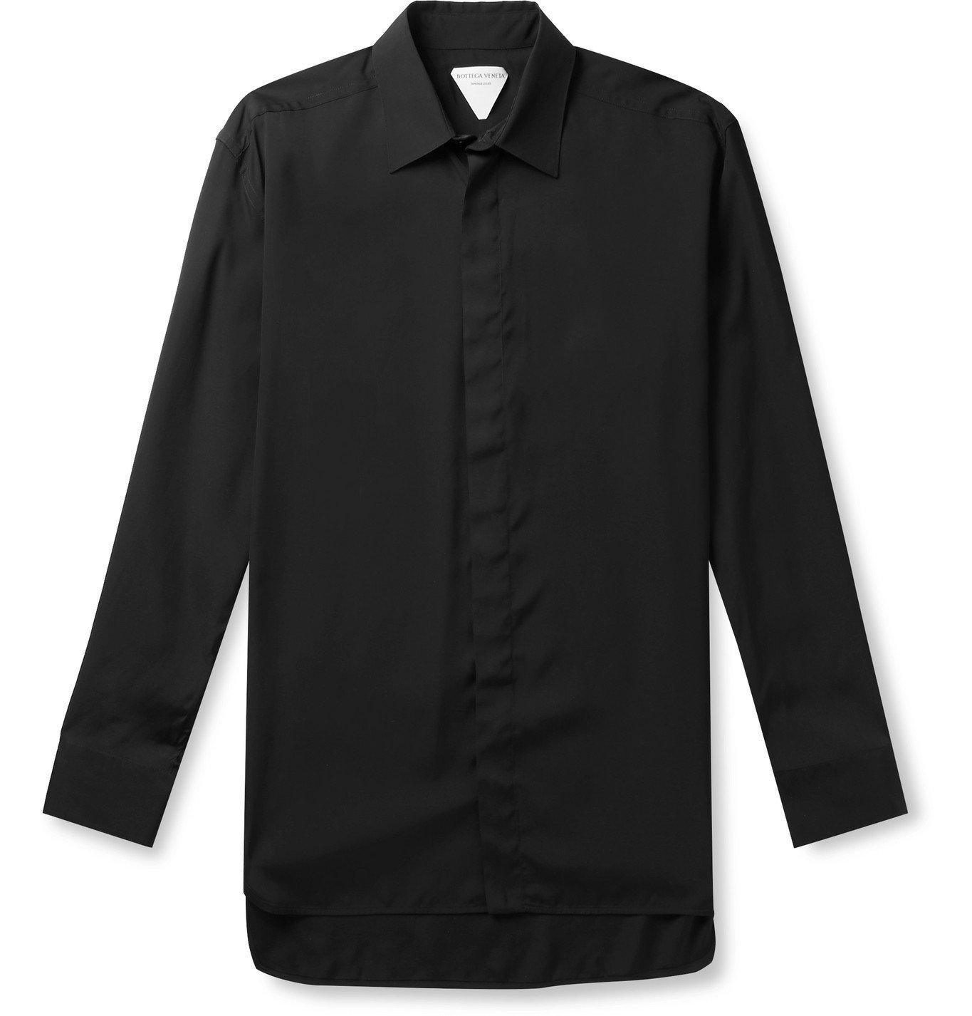 Photo: Bottega Veneta - Poplin Shirt - Black