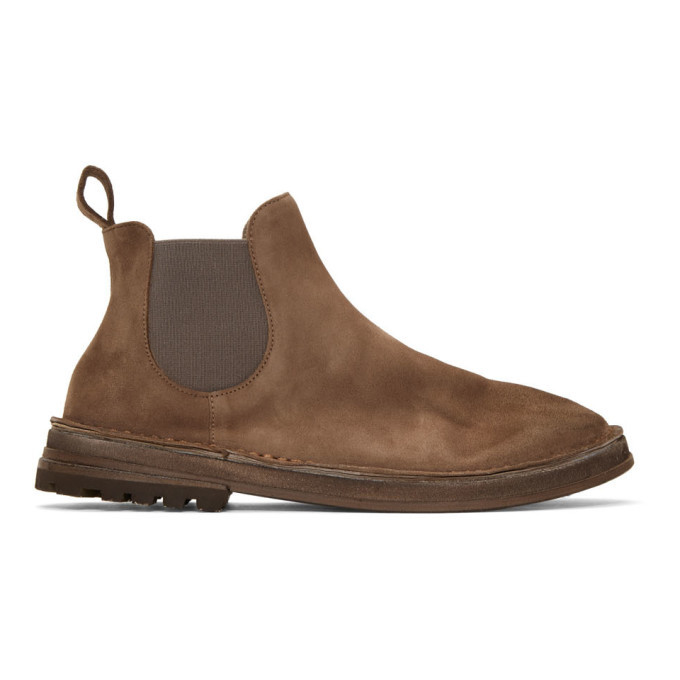 Photo: Marsell Brown Suede Fungaccia Chelsea Boots