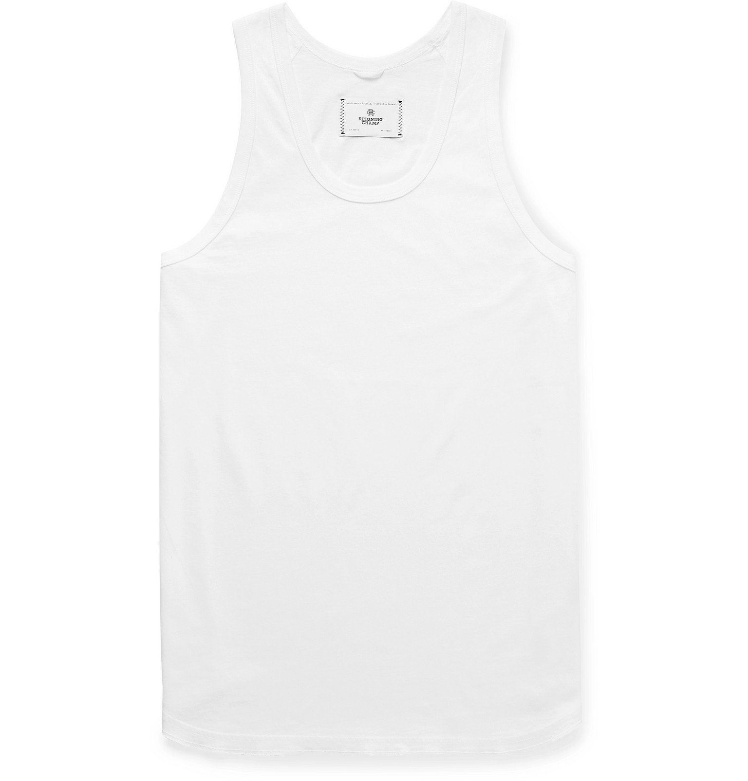 Photo: Reigning Champ - Pima Cotton-Jersey Tank Top - White