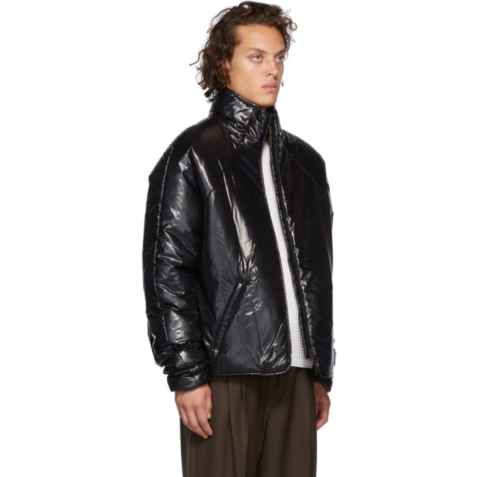 Kassl Editions Black Short Puffer Jacket