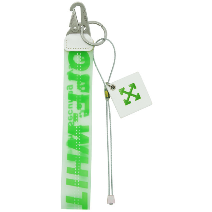 Photo: Off-White Green Rubber Keychain