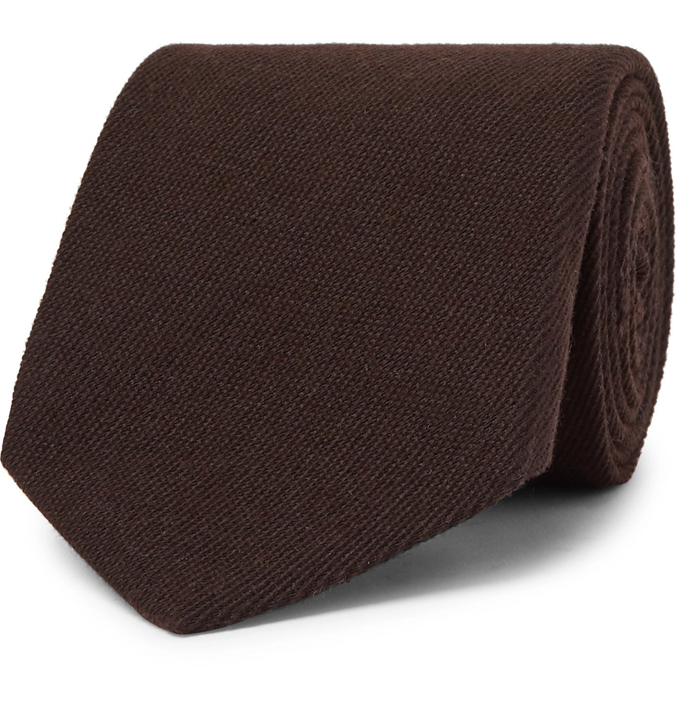 Photo: TOM FORD - 8cm Mélange Cashmere and Silk-Blend Tie - Brown