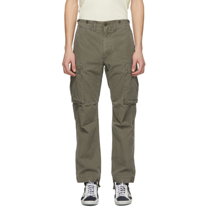 RRL Khaki Regular Fit Surplus Cargo Pants