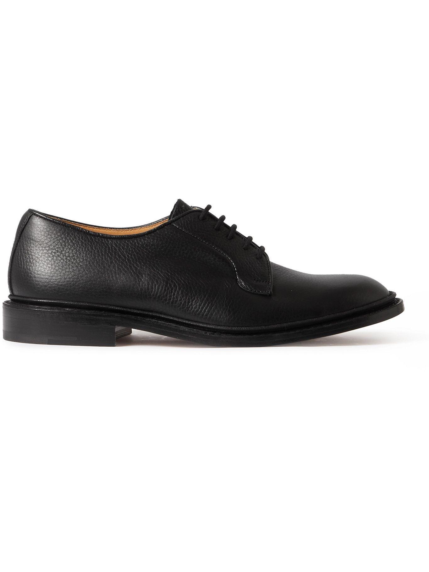 Photo: Tricker's - Robert Full-Grain Leather Derby Shoes - Black
