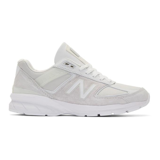 Photo: Junya Watanabe White New Balance Edition M990 V5 Sneakers