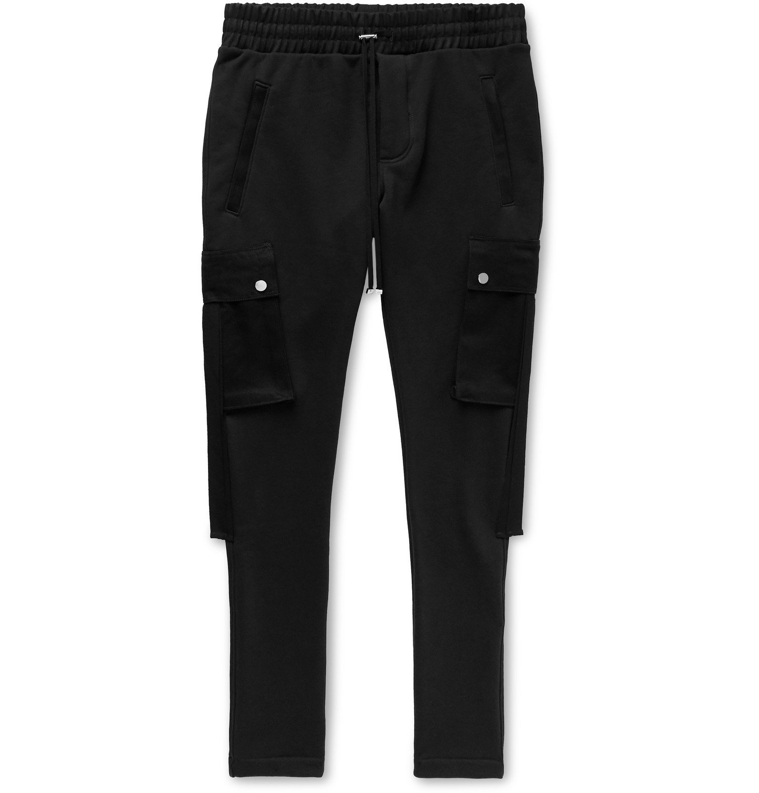 Photo: AMIRI - Slim-Fit Tapered Twill-Trimmed Loopback Cotton-Jersey Cargo Sweatpants - Unknown