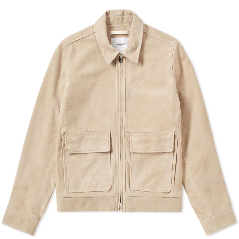 Photo: Norse Projects Tyge Suede Jacket Neutrals