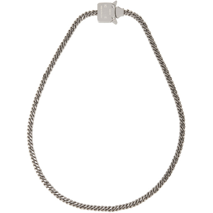 Photo: 1017 ALYX 9SM Silver Cubix Mini Necklace