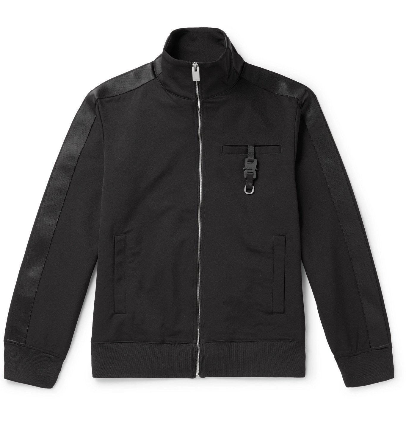 Photo: 1017 ALYX 9SM - Webbing-Trimmed Buckle-Detailed Neoprene Track Jacket - Black