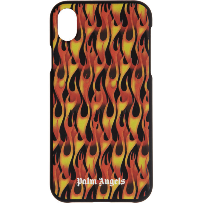 Photo: Palm Angels Black and Red Flames iPhone XR Case