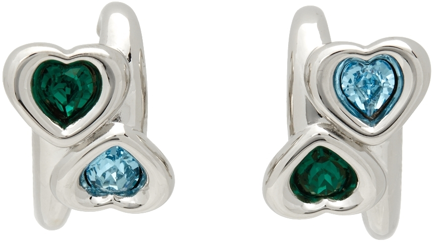 Photo: Jiwinaia Blue & Green Heart Earrings