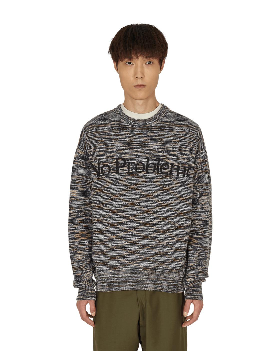 Photo: Aries Space Dye No Problemo Crewneck Sweater