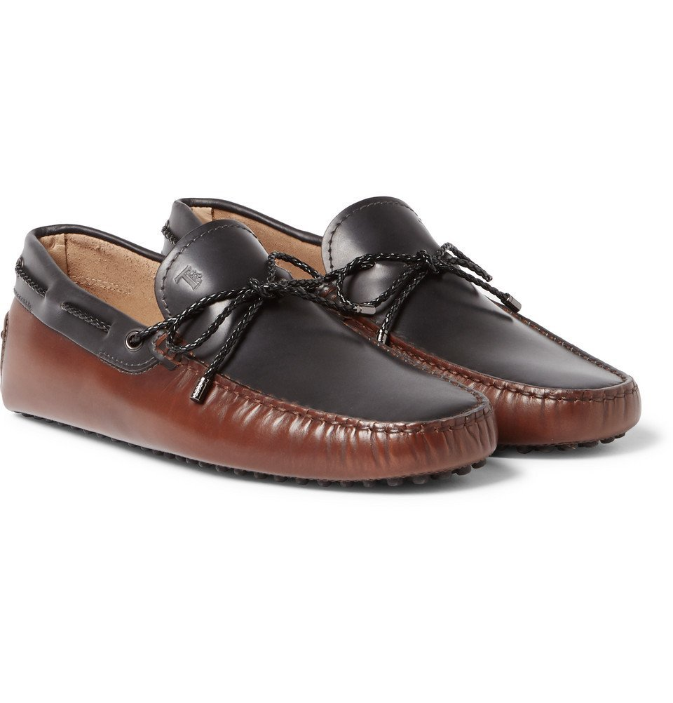 Tod's - Two-Tone Leather Driving Shoes - Men - Brown