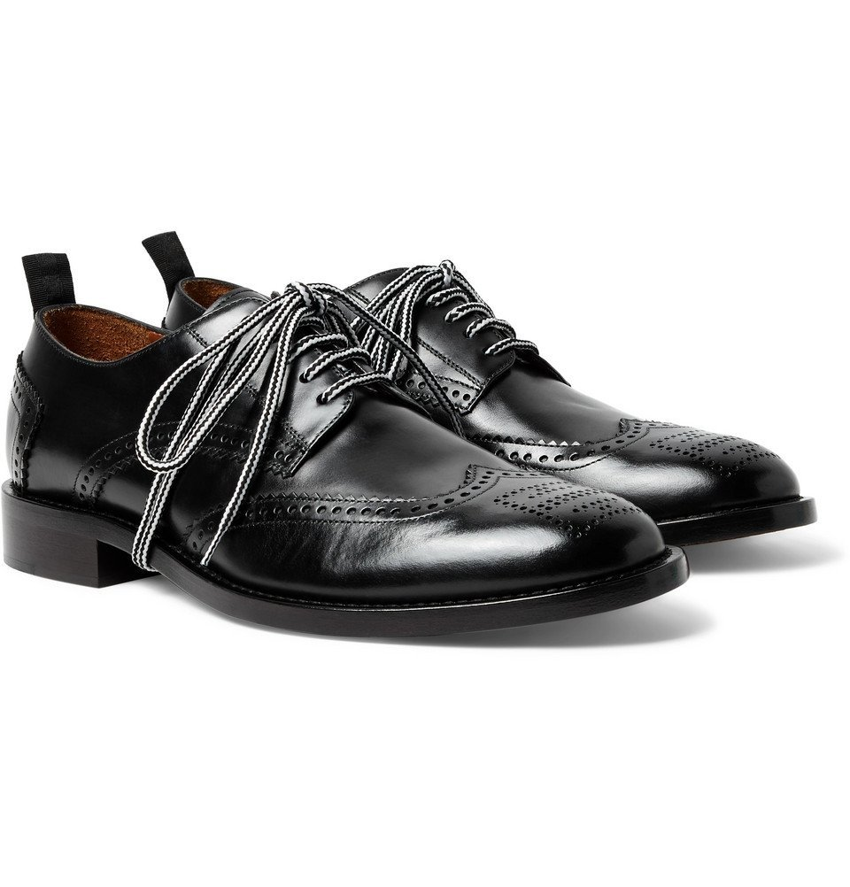 Photo: Givenchy - Leather Wingtip Brogues - Men - Black