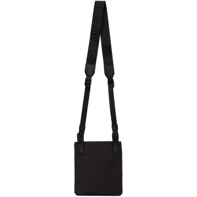 Versace Jeans Couture Black Logo Messenger Bag