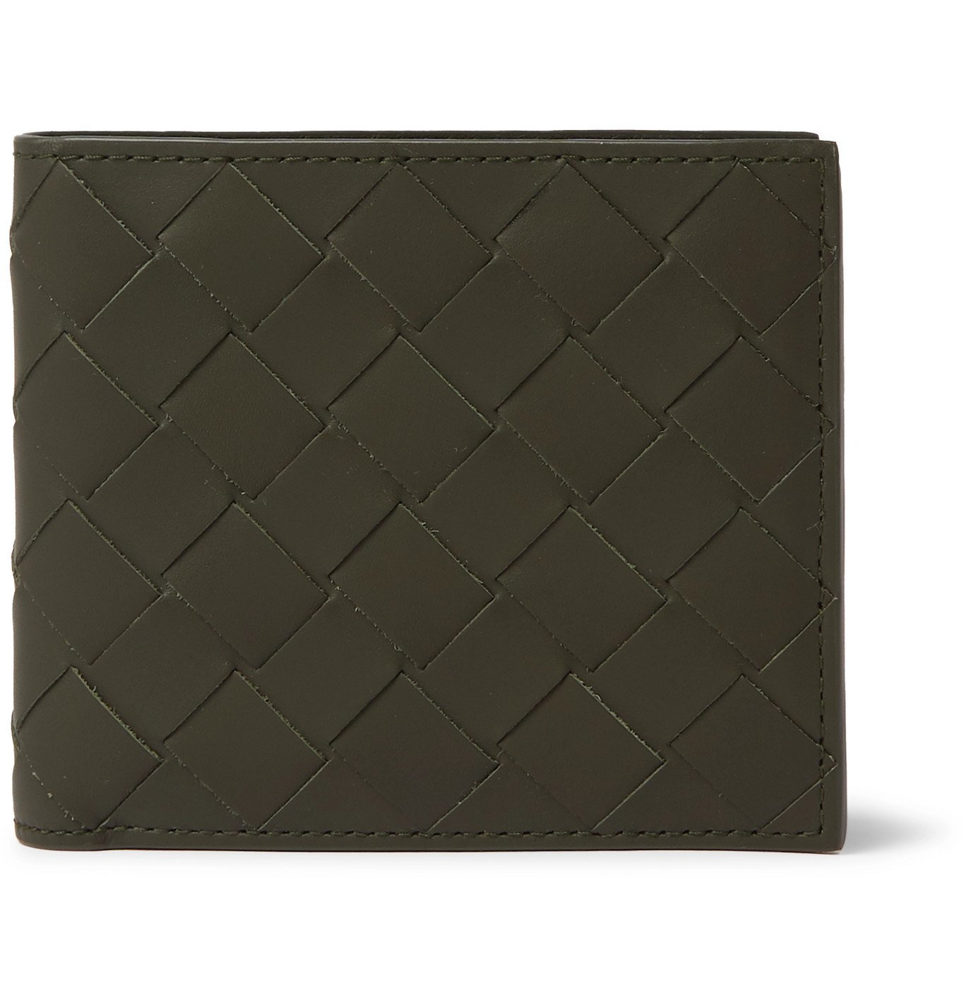 Photo: Bottega Veneta - Intrecciato Leather Billfold Wallet - Green