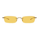 Oliver Peoples Gold and Yellow Daveigh Sunglasses
