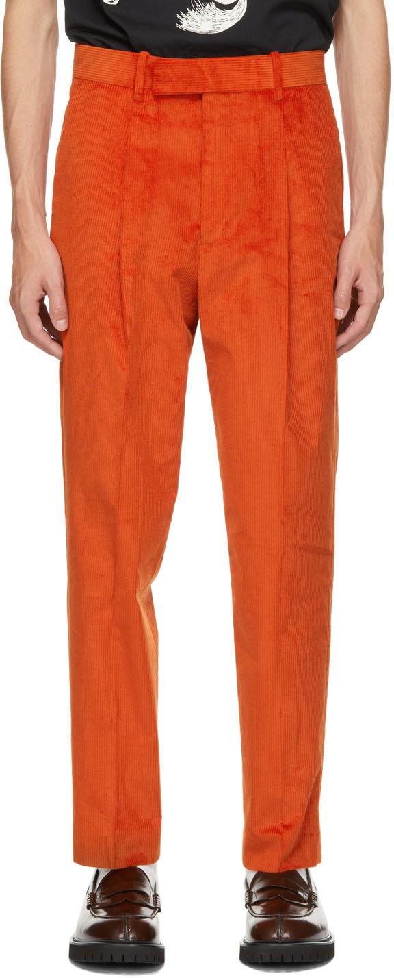 Photo: Paul Smith Orange Corduroy Trousers