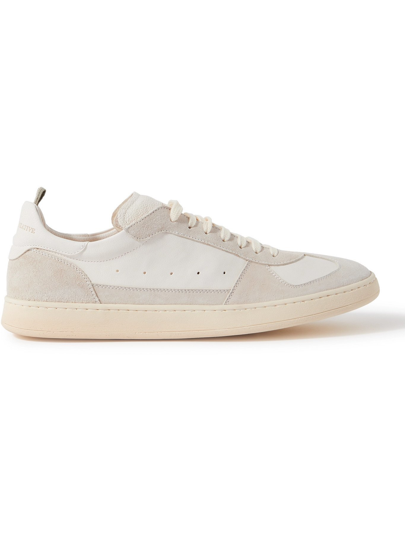 OFFICINE CREATIVE - Kadette Suede and Leather Sneakers - White