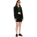 adidas Originals Black Velour 3-Stripes Miniskirt