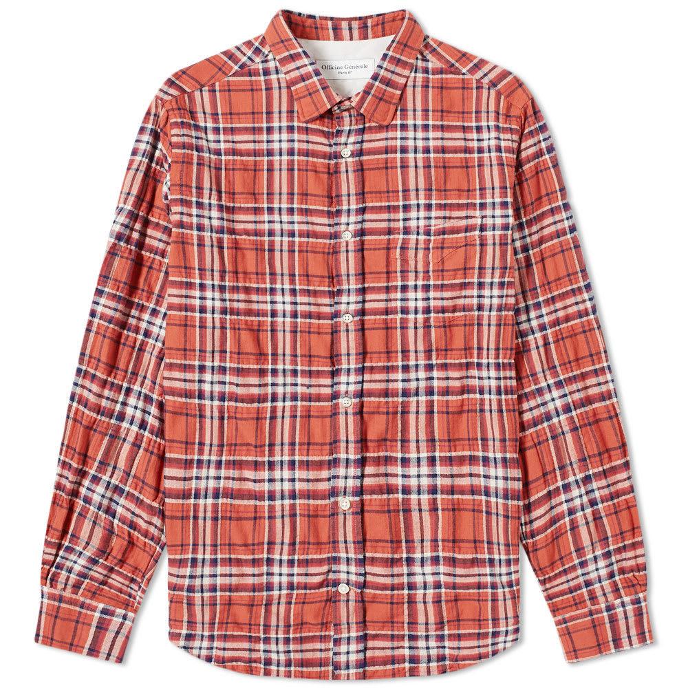 Officine Generale Textured Check Shirt