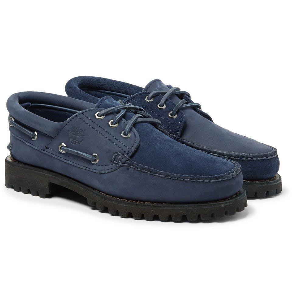 Nubuck Boat Shoes - Men - Navy Timberland