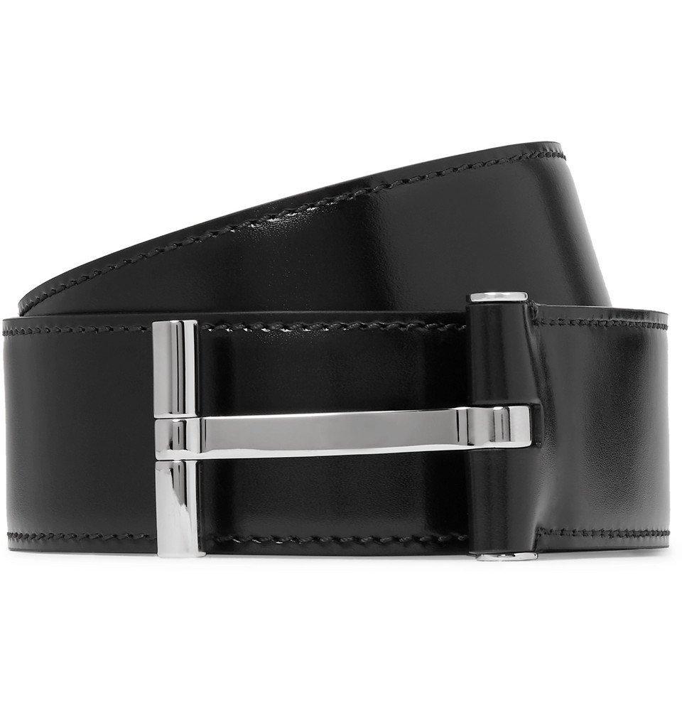 Photo: TOM FORD - 4cm Black Leather Belt - Black