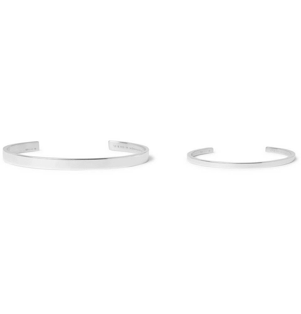 Photo: Le Gramme - Father and Child Polished Sterling Silver Cuff Set - Silver