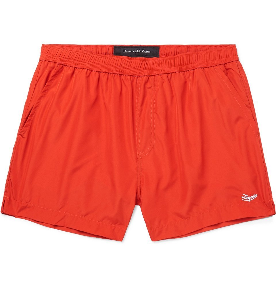 Photo: Ermenegildo Zegna - Short-Length Swim Shorts - Red